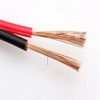Home Loud Speaker Cable RVB2x0.3/0.5/0.75/1/1.5mm² PVC Wire 2 Core Red Black FZ