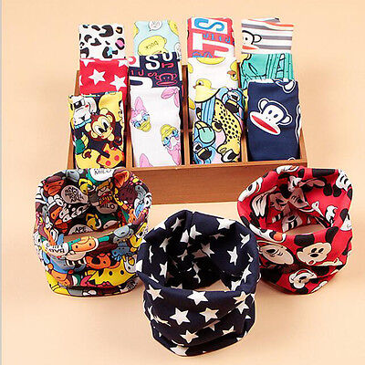 Baby Scarf Cotton Cartoon Kerchief Kid's Scarf Warm Plush Neck Collar Scarves