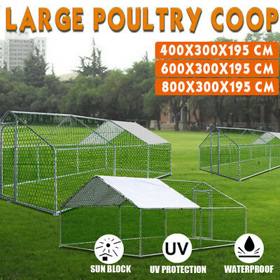 Super Large Chicken Coop Rabbit Hutch Ferret Cage Hen Chook House Guinea Pig Run