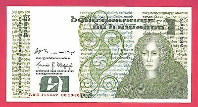Ireland - Republic 1980 1 Pound Note P-70b