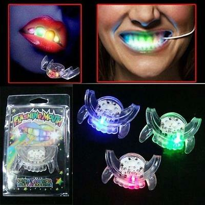 Hot Light Up Mouthpieces LED Mouth Guard Flashing Teeth Party Favors Glow Tooth~