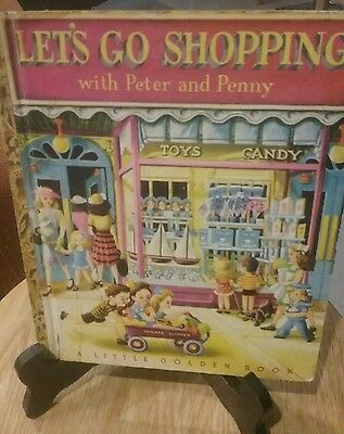 LET'S GO SHOPPING WITH PETER AND PENNY Little Golden Book 1948 (G/C)