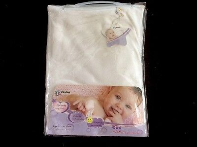 Kiddies Premium Quality Cot Terry Waterproof Mattress Protector. Brand New.