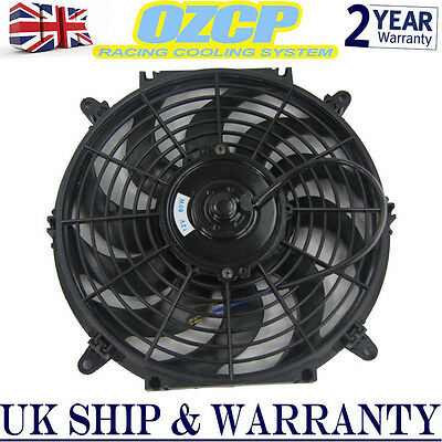 "12"" INCH 80w Electric Engine Radiator Intercooler 12v Slim Cooling Fan Universal"