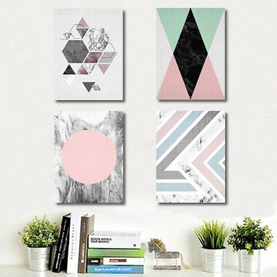 Geometry Abstract Minimalist Art Canvas Print Poster Painting Modern Home Decor