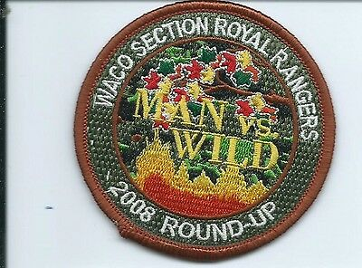 Waco Section Royal Rangers 2008 round up MAN vs WILD patch 2-7/8 #453