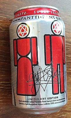 HIM / Ville Valo COCA-COLA CAN 2005 VERY RARE LIMITED ART EDITION / FINLAND!