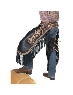 Tough-1 Western Chinks Mens Smooth Leather Adjustable 63-935