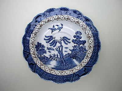 Booths Real Old Willow Saucer A8025 14.5cm