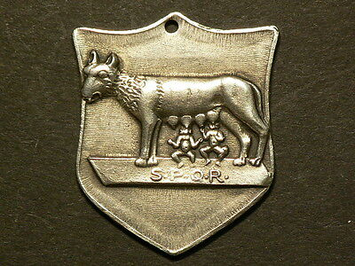 SPOP Romulus & Roma She Wolf,  DCCLM Silver Plated Medallion, Pendant  #G5809
