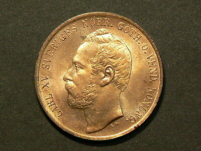 Sweden 1867, 5 Ore, Uncirculated RED, KM#707, Rare Condition #G5503