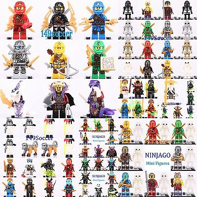 Ninjago 2017 Collection Cole Jay Kai Pythor Lloyd Minifigures fit with Lego