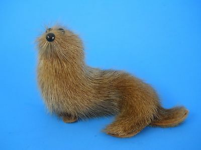 Vintage Otter Seal Lion Real Fur Figure Toy