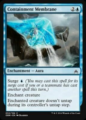 4x MTG: Containment Membrane - Blue Common - Oath of the Gatewatch - OGW