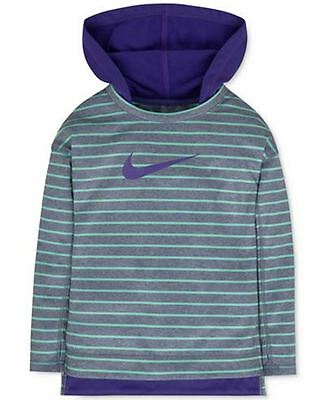 NWT Nike stripped thermal hoodie sweatshirt hooded dri-fit Toddler Girl 5T S