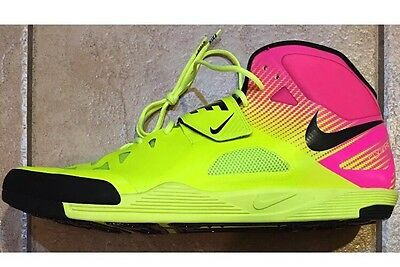 NEW Nike Zoom Javelin Elite 2 Track & Field Spikes Shoes Volt Pink Men's Size 14