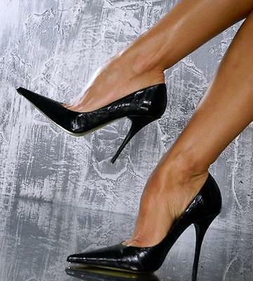 Womens Black Patent Leather Sexy Pointed Toe Shoes High Heel Club Stilettos New