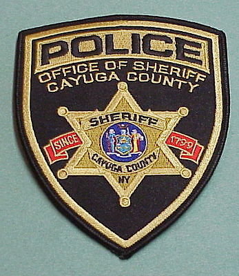 Cayuga County  New York  1799  Ny  Sheriff   Police Patch   Free Shipping!!!