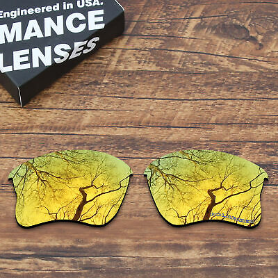 f80634eddf3 T.A.N Seawater Resistant Replacement Lens For-Oakley Flak Jacket XLJ Gold