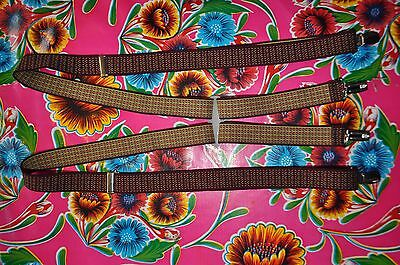 Vintage patterned braces suspenders with clip fastening