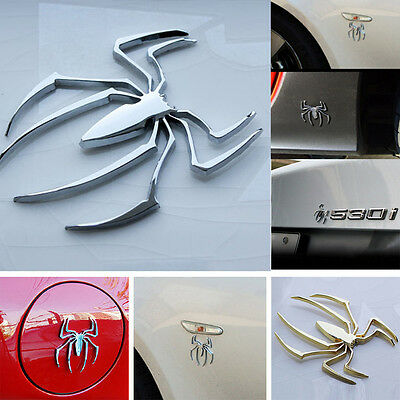 Cool Spider Car Sticker Truck Auto Chrome Alloy Logo Emblem Marker Bumper Decal