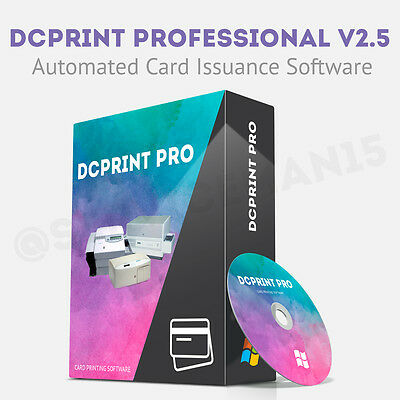 DCPrint PROFESSIONAL Card Software Datacard Embosser 150i 275 280 295 430 450