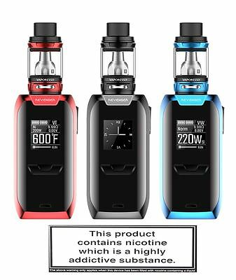 Smoke Authentic Vapresso Revenger Complete Kit New 100% Original E-Cigarette