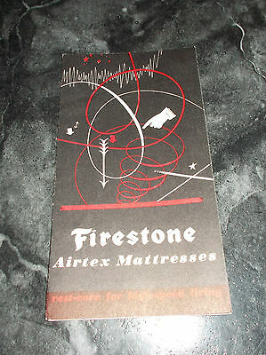 "VINTAGE Advertising Brochure for FIRESTONE Airtex Mattresses-1940 - 3"" X 6"""