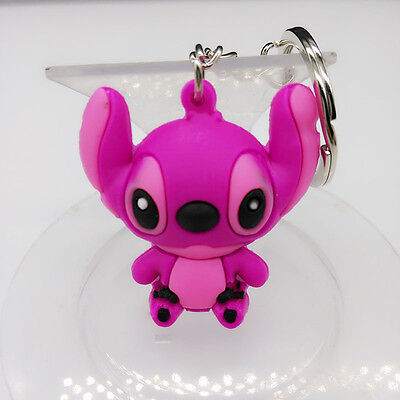 New 3D Stitch Soft Rubber Keyring Keychain bags Pendant #1