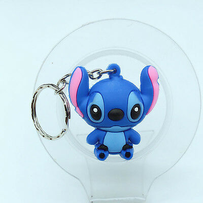 2Pc New 3D Stitch Soft Rubber Keyring Keychain bags Pendant