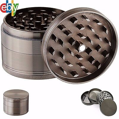 4 Piece Grinder, Tobacco Herb Spice WEED-Crusher, 2 Inch Zinc Alloy Smoke Metal