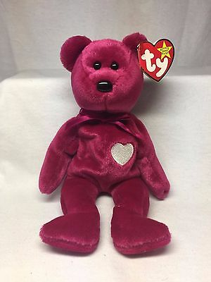 Retired TY Beanie Baby - Valentina Bear - With Swing & Tush Tag Error