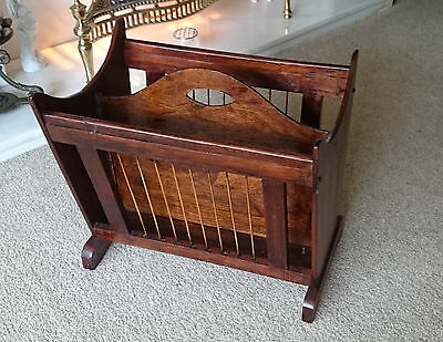 Vintage Mahogany Newspaper Magazine Rack