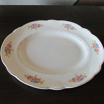 Vintage Homer Laughlin platter. J43 N8 shabby chic style decor