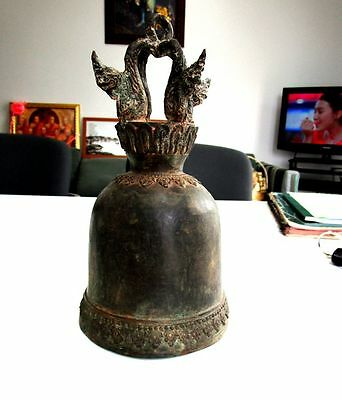 Old Thai Temple Bell Bronze