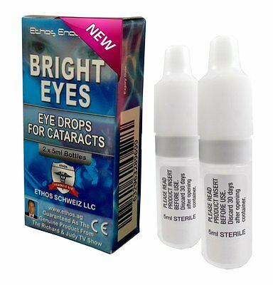 Eye Drops for Cataracts, Ethos Bright eyes,As seen on Richard and Judy show 10ml