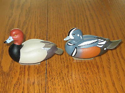 Jeff Brunet Miniature Duck Decoys Unlimited Redhead 2012 and Harlequin 2011.