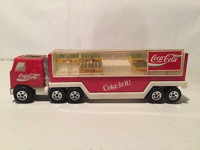 Vintage Buddy L Coca Cola Red  Delivery Truck Plastic Coke Cases