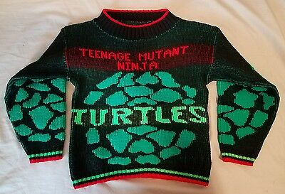 VINTAGE 1980s TEENAGE MUTANT NINJA TURTLES SWEATER SIZE T4-T5 TMNT