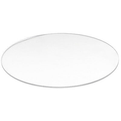 SS Transparent 3mm thick Mirror Acrylic round Disc Diámetro:85mm
