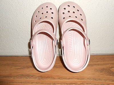 Youth Girls Pink Mary Jane Crocs 3M