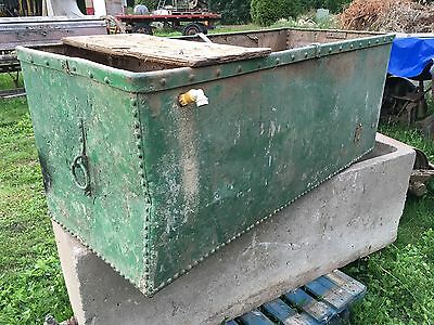 Studded Galvanised Water Trough Garden Planter Tank Feeder Vintage With Handles