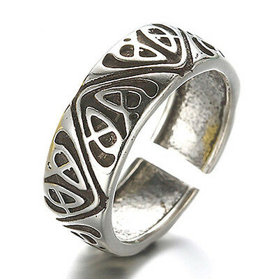 Valknut Odin 's Symbol of Norse Viking Warriors silver 925 ring Punk Gothic