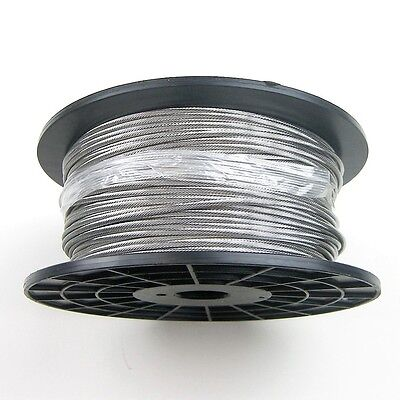 "1,000ft Stainless Steel Type 316 Wire Rope 1x19 3/16"" - Cable"