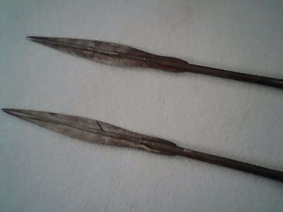 """Pair Touareg Spears 72"""" long old RARE  Africa"""