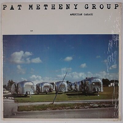 PAT METHENY GROUP: American Garage USA ECM Jazz Fusion ORIG Shrink NM Wax LP