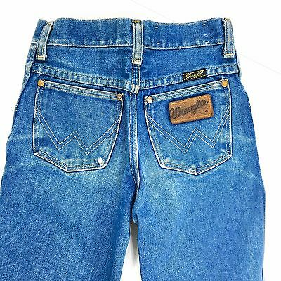 Vintage Wrangler Jeans No Fault Denim Youth Size 12 Made In USA 70s Cheer