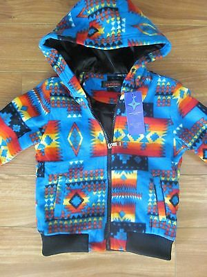 New Pendleton Style Western KIDS Cherokee Blue Jacket Indian Blanket Coat Size 6