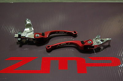 Honda Trx 250R 87 - 89 C6 Asv Clutch And Brake Levers Red Pair Pack