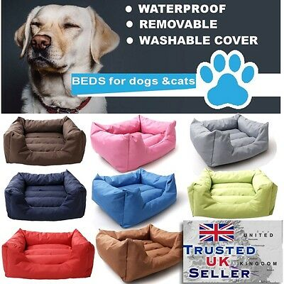WATERPROOF REMOVABLE Soft  Dog bed Sofa Cat Pet Cushion Extra LARGE up to 130cm